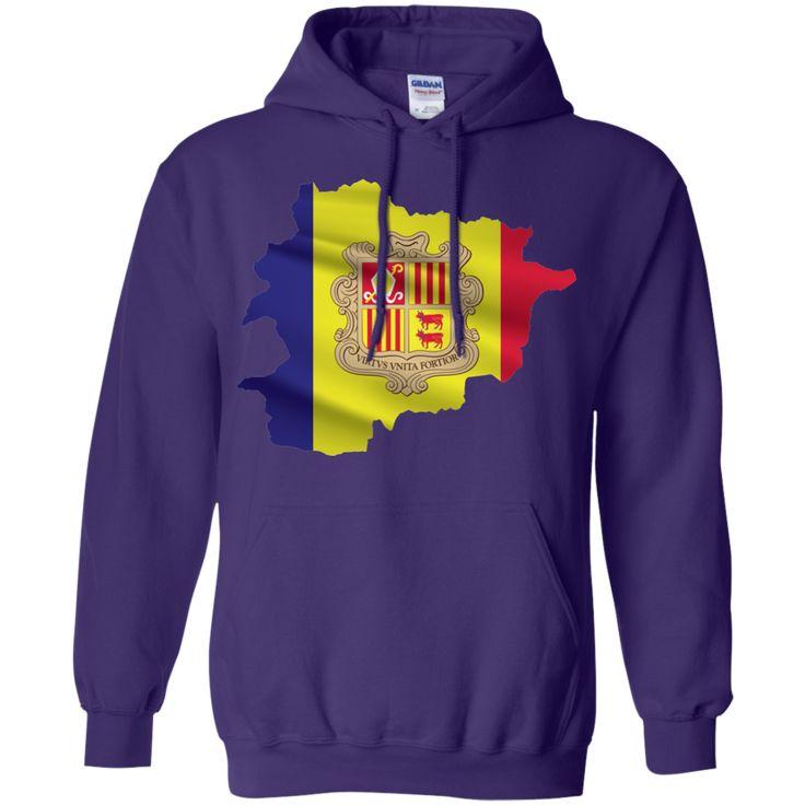 andorra flag -01 Pullover Hoodie 8 oz
