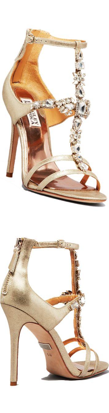 Badgley Mischka Open Toe Evening Sandals Giovana II High Heel