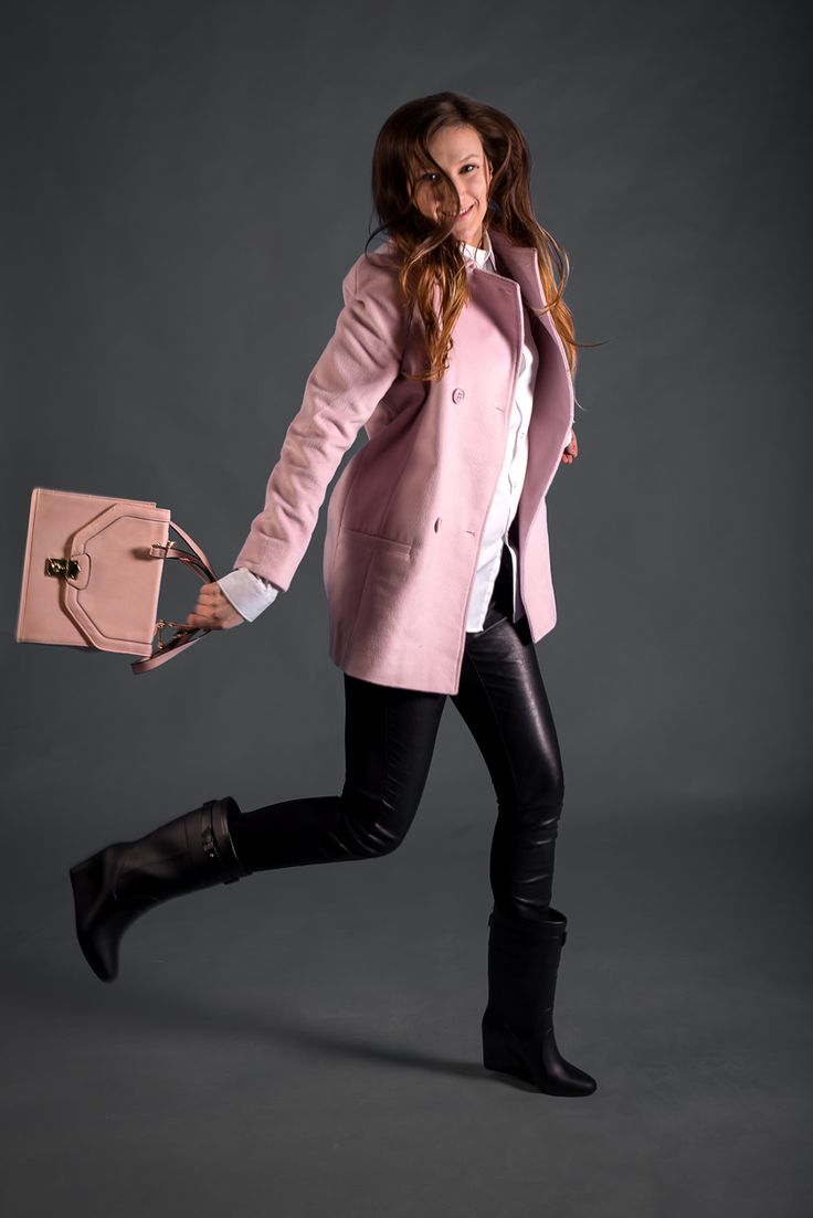I love pink. Fashion outfit. Pink coat.