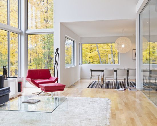 Wonderful Family House In Urban Style Fabulous Glass Coffee Table White Rug Lighthouse Living Room