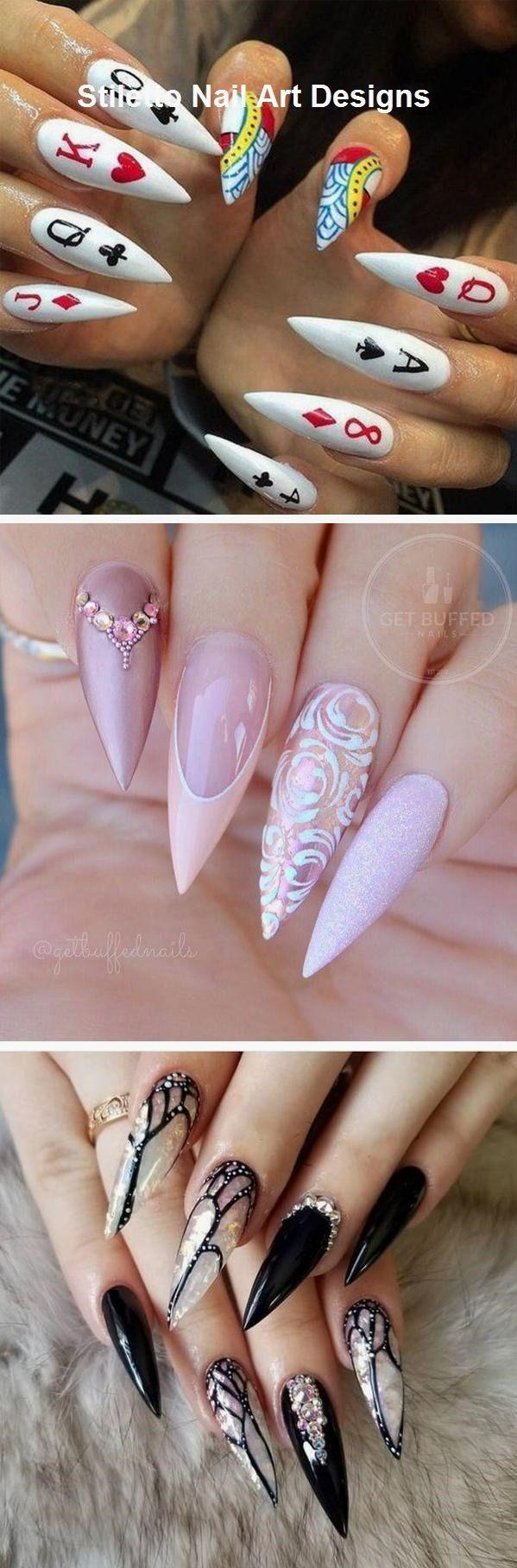 30 große Stiletto Nail Art Design-Ideen #naildesign – Nägel / Nails