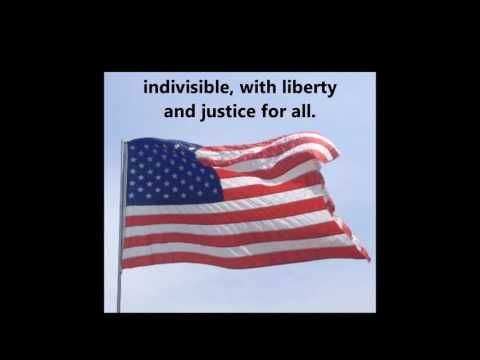 The Pledge of Allegiance song words lyrics USA UNITED STATES Patriotic School Assembly Citizenship - YouTube