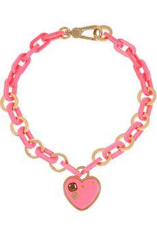 Marc by Marc Jacobs Heart brass & acetate necklace, $150 loooooooove
