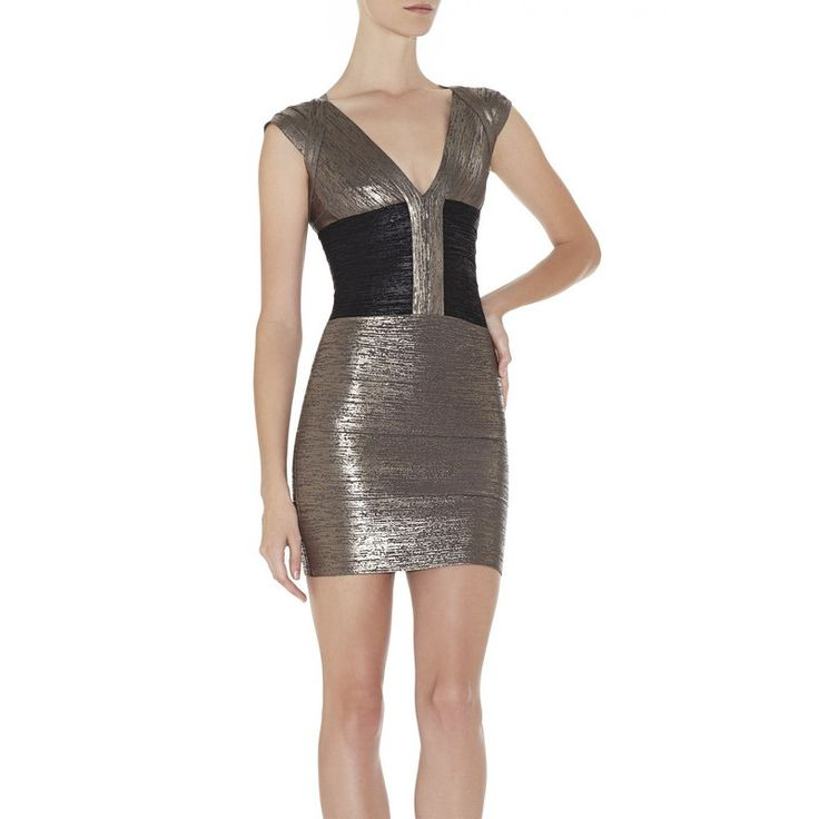 Herve Leger Noble Metallic Bodycon Bandage Dress HLC409 being unfaithful limited offer,no taxes and free shipping.#dress #dresses #womenfashion #herveleger #hervelegerdresses