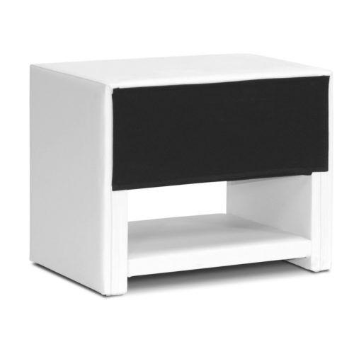 Modern Nightstand White Massey, Baxton Studio