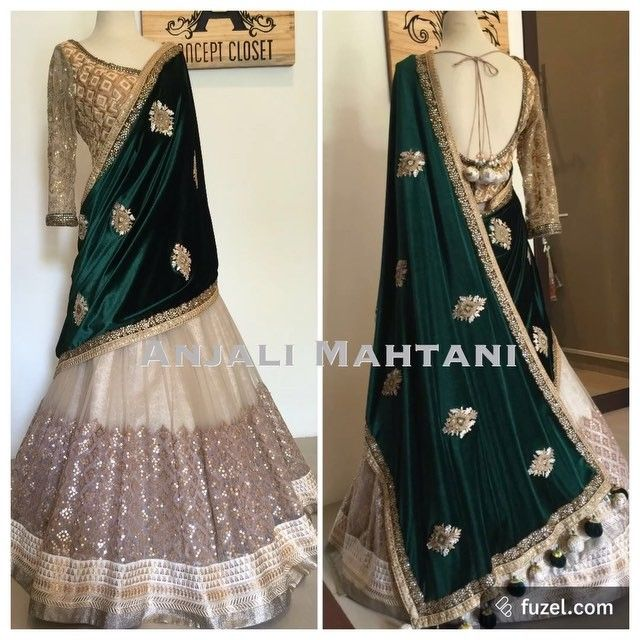 Emerald Empire Lehenga Saree anjalimahtanicouture
