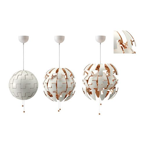 IKEA PS 2014 Pendant lamp, white, copper color - white/copper color