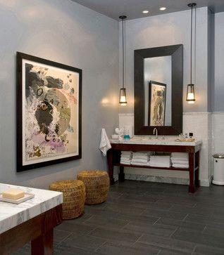 Bathroom 6x24 bathroom floor tile design ideas pictures for A b mackie salon