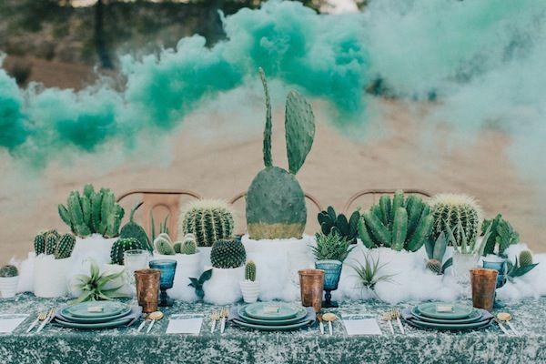 Eclectic Smoke Bomb Wedding Inspiration | Found Vintage Rentals