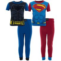 Classic Batman Superman 2-Pack Cotton Pajamas for Boys