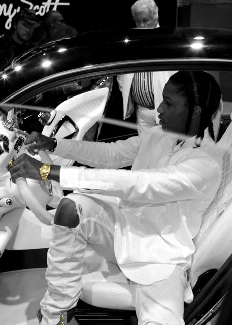 ASAP ROCKY in all white everything  @MTV Iggy