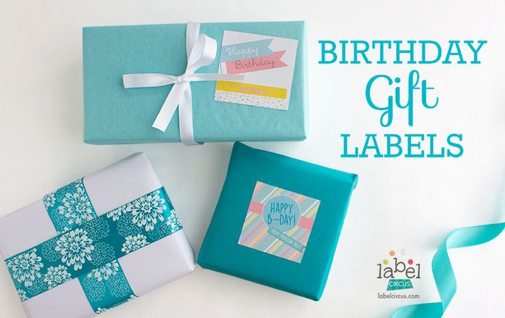 Custom Birthday Gift Labels | Label Circus #gifttags #happybirthday #tags #happybirthday