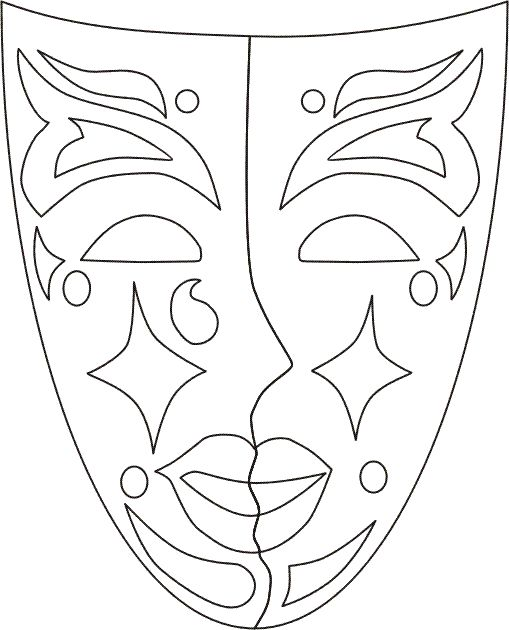 venetian_masks_10 Adult coloring pages