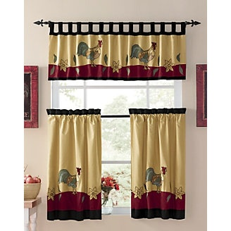 Window Treatments, Rooster From Through The Country Door® Too Cute.