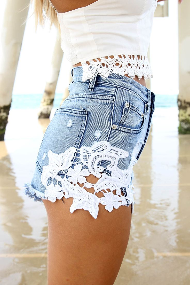 Blue Denim Fortune Shorts