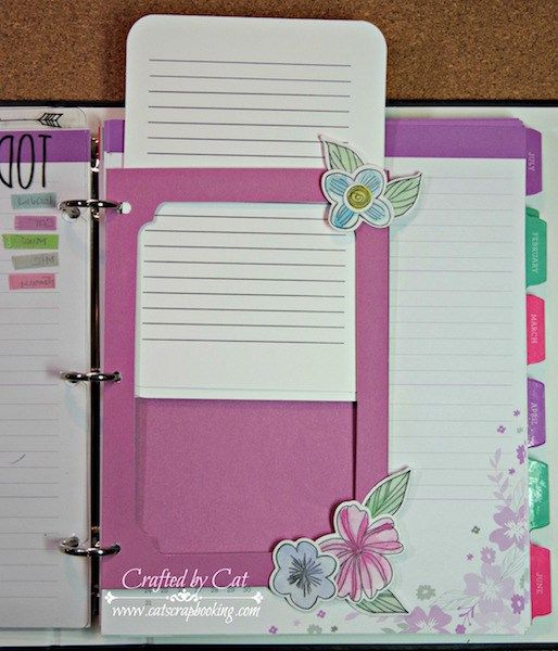 To do list for 2016 CTMH Planner detail 2 ~ CatScrapbooking.com