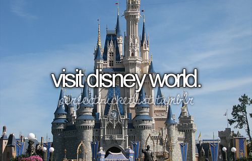 Disney World! I've already been, but I want to go back so bad!