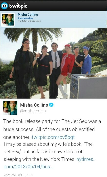 Misha Collins Wife Book
