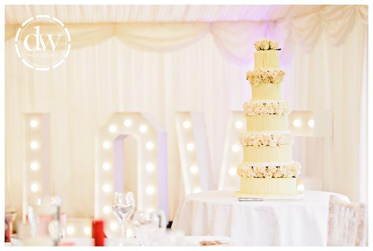 Wedding cake at Chippenham Park, Cambridgeshire