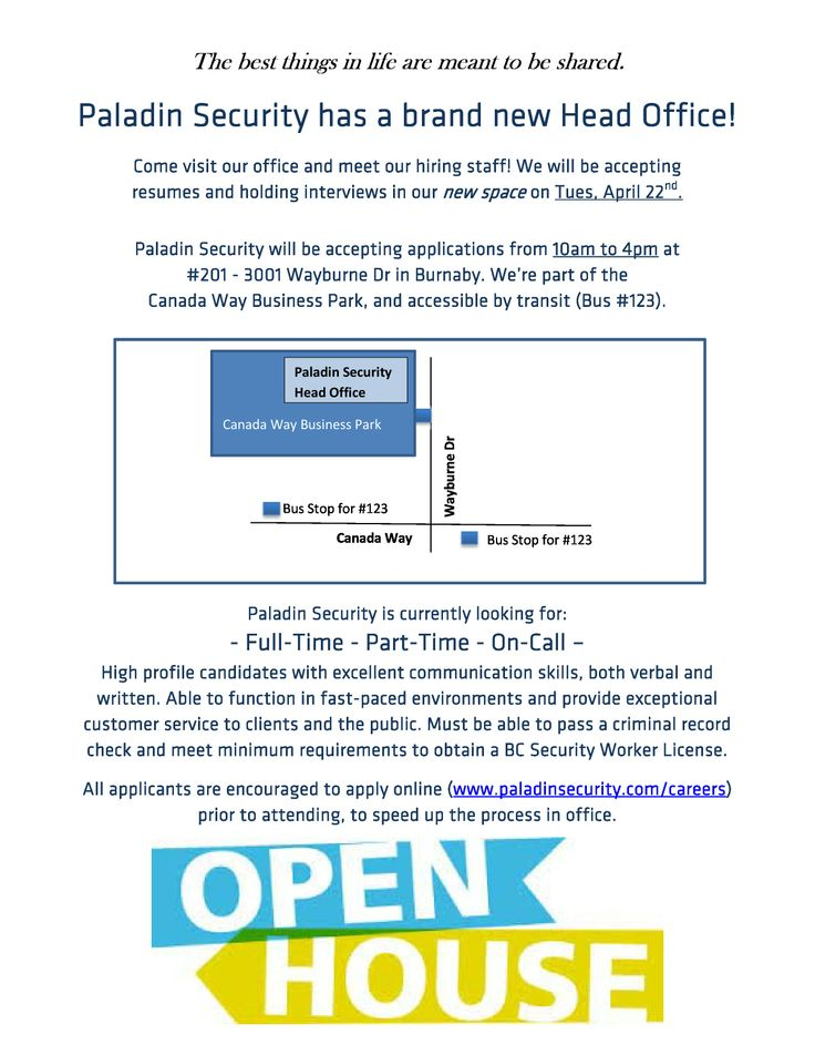 Paladin Security Open House! #Hiring