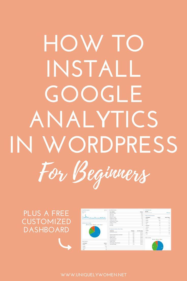beginners guide install google analytics wordpress