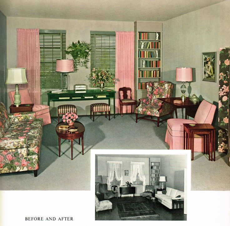 Before And After Living Room 1954