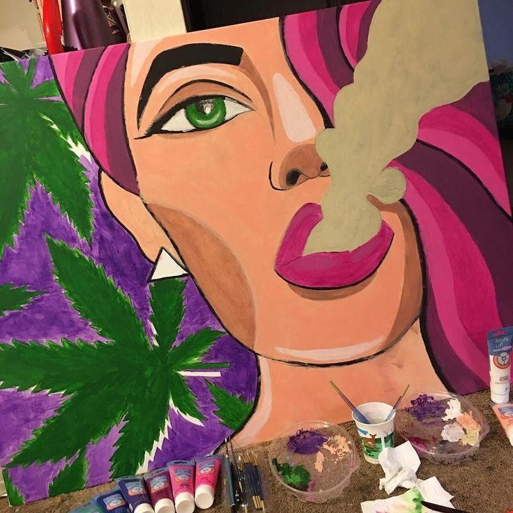 ohsohighagain:    Marijuana art