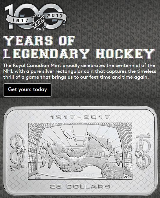 RCM: Mark the 100th Anniversary of the National Hockey League (NHL)! - Coin Community Forum