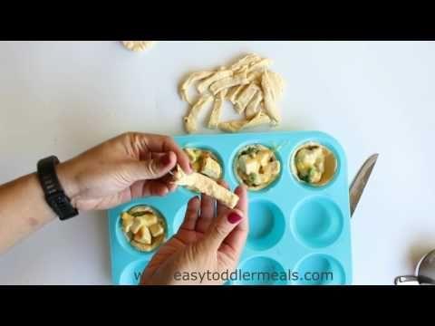 4 Ingredient Mini Chicken Pot Pies - Easy Toddler Meals