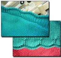 Scalloped Edge Tutorial For Machine - Single Bed   Machine Knitting Tutorial