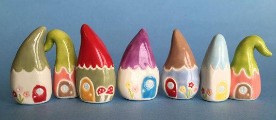 ONE CUSTOM HOUSE  Gnome Home or Little Flower by thelittlereddoor