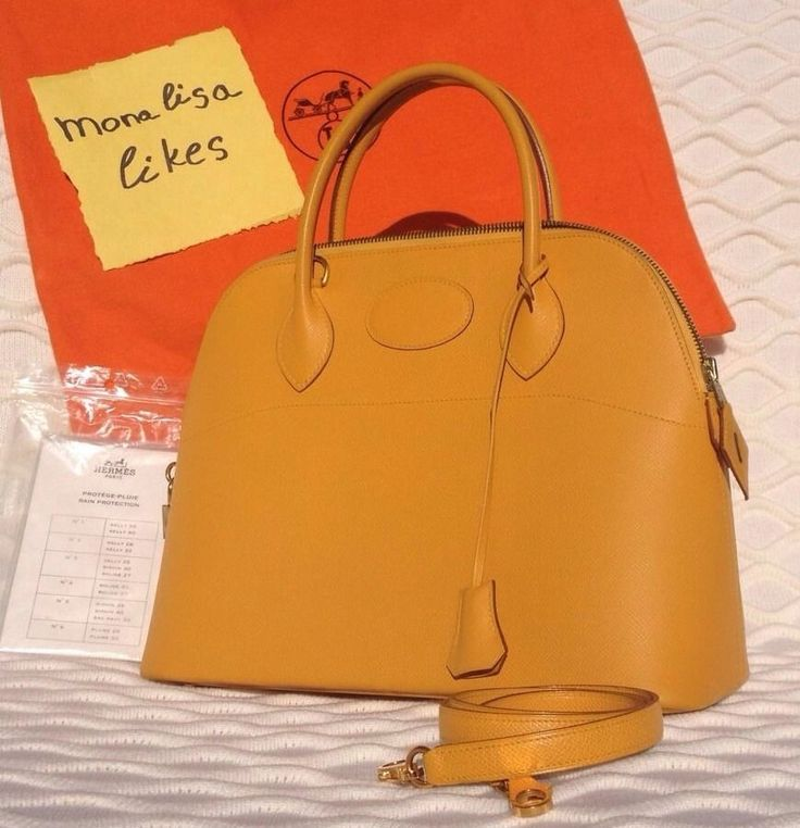 HERMES Bolide 31 Soleil Yellow Courchevel Leather Golden Hardware ...