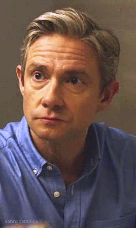 Martin Freeman - Oh my Lord, you are adorable ❤️ (.gif)