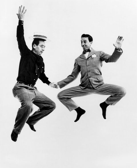 Ray Bolger and Philippe Halsman.