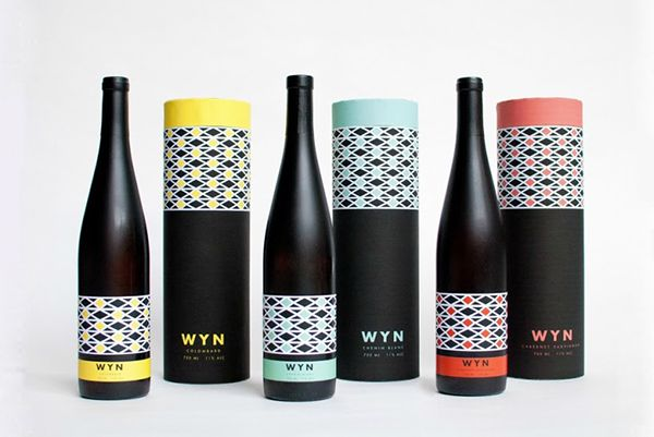 Well look what I came across today. Work by my classmate Brittany Albertson!    South African wine packaging wyn South African wine packaging   WYN