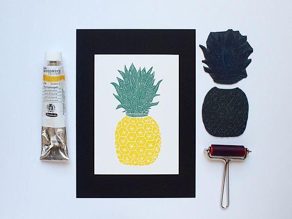 Fancy Ananas  Original Handprint  Limited Edition 150