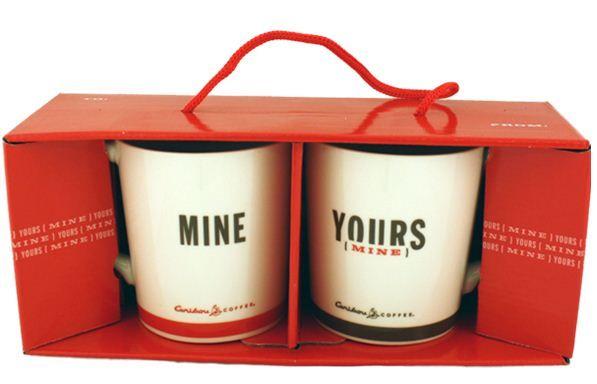 Pareja de tazas para San Valentín