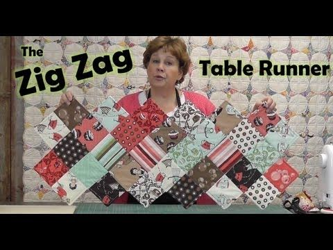 awesome table runner idea using 1 charm pack! Zig Zag Charm Pack Table Runner by Missouri Star Quilt Company!!