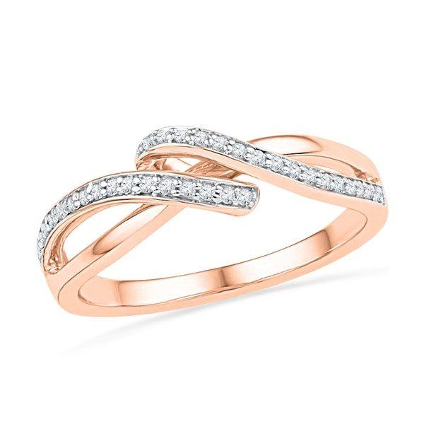 Jpearls 18kt Rose Gold Noble Diamond Ring