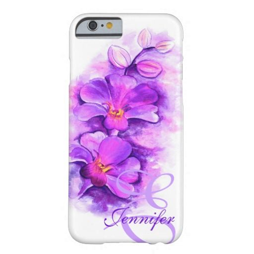 Named radiant Orchid purple art floral iPhone 6 Case. Watercolor art and design by www.sarahtrett.com