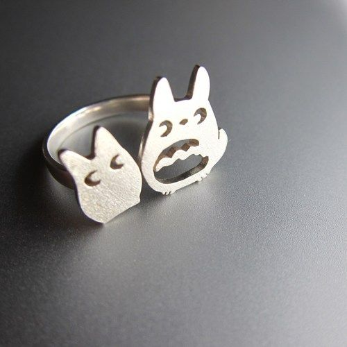 My Neighbor Totoro Ring - Handmade Sterling Silver Ring 45.52€