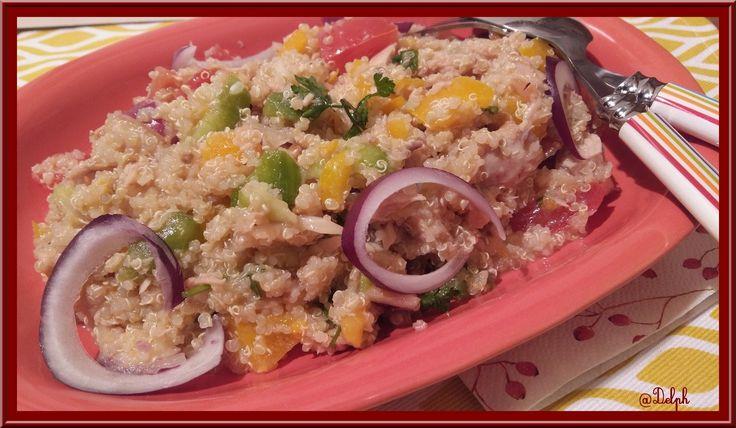 Salade de Quinoa aux légumes et thon au Thermomix.