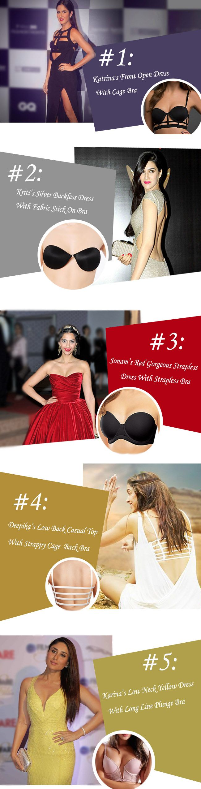 How to select right Bra for different dresses we learned from celebrity