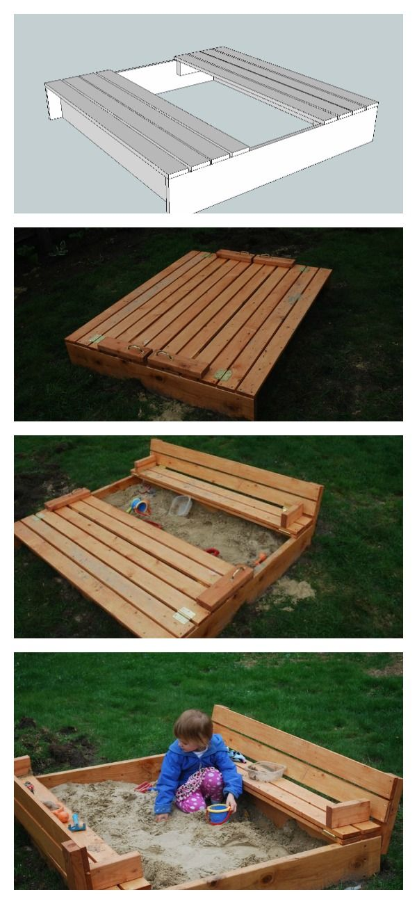 love this sandbox the built in cover converts to benches anawhite ...