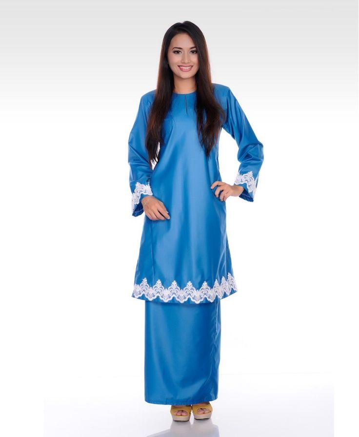Mootiara - Prussian Blue Baju Kurung - Baju Kurung - Collection