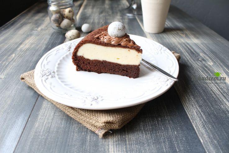 Шоколадный пирог с творожной начинкой в мультиварке   Не худеем! Пошаговые рецепты.