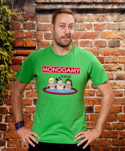 Best friend gift funny tshirt Monogamy boys Gift mens by store365