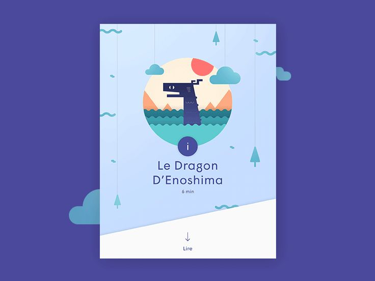 Preview screen, before reading the story. More about the project on https://www.behance.net/gallery/27510395/Lantern-The-app