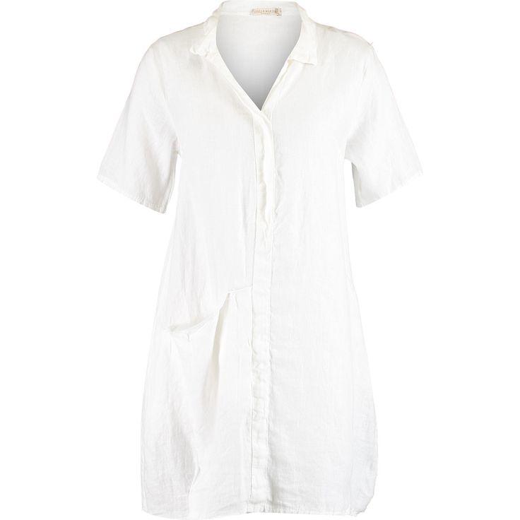 """""""Stella Martini"""" White Linen Shirt Dress - TK Maxx £24.99"""