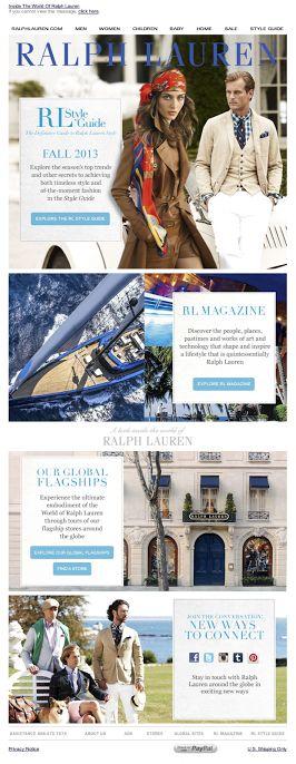 Ralph Lauren  | welcome | WelcomeEmails | emailmarketing | email | newsletter | welcome newsletter | welcome email | WelcomeEmail | relationship emails | emailDesign